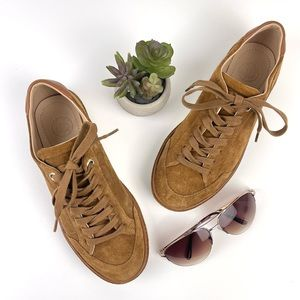 MASSIMO DUTTI Suede Lace Up Sneaker Cognac 37